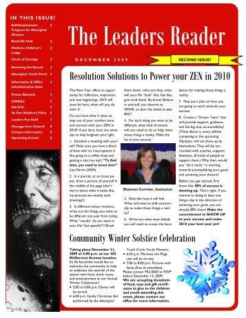 The Leaders Reader - December 2009 - Ka Ni Kanichihk