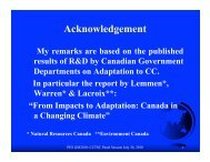 Canadian Initiatives to Adapting to Climate Change and Extreme ...