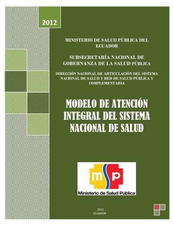 Manual modelo atencion integral salud ecuador 2012 logrado ver amarillo