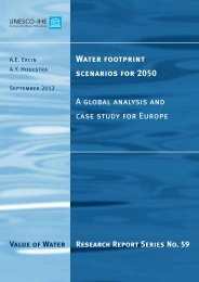Water footprint scenarios for 2050 A global analysis and case study ...