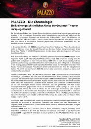 PALAZZO – Die Chronologie