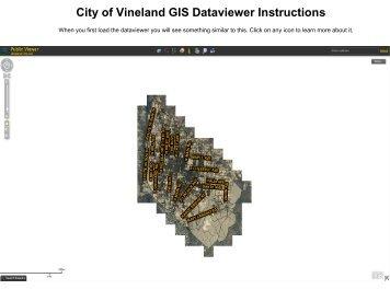 Public GIS Viewer Tutorial - City of Vineland