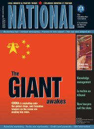 The Canadian Bar Association - National (English) - July/August 2012