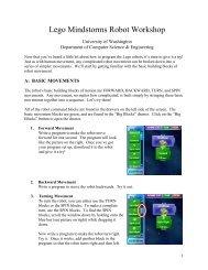 Lego Mindstorms Robot Workshop - CS4HS - University of ...