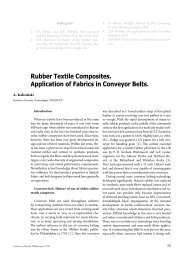 Rubber Textile Composites. Application of Fabrics in ... - Moratex