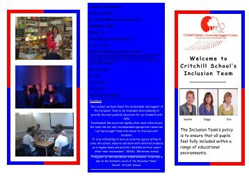 inclusion brochure.staff photos updated - Somerset Learning Platform