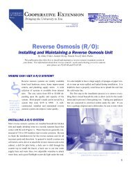 Installing and Maintaining a Reverse Osmosis Unit - College of ...
