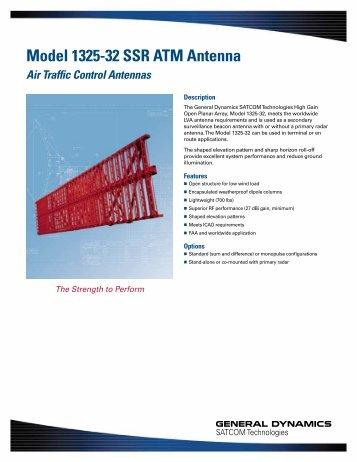Model 1325-32 SSR ATM Antenna - General Dynamics SATCOM ...
