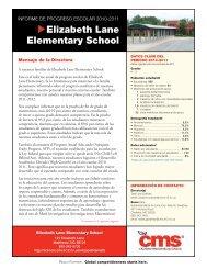 Elizabeth Lane Elementary School - Charlotte-Mecklenburg Schools