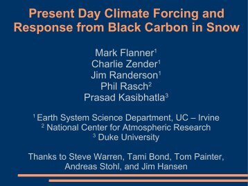 Present Day Climate Forcing and Response from Black Carbon in S