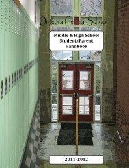 Middle & High School Student/Parent Handbook 2011-2012