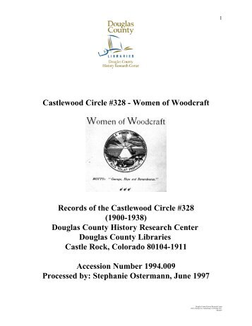 Castlewood Circle #328 - Douglas County History Research Center ...
