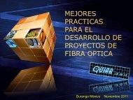 Mejores Prácticas para el Desarrollo de Proyectos de Fibra Óptica.