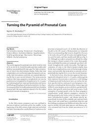Turning the Pyramid of Prenatal Care - Fetal Medicine Centre