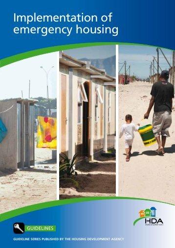 Implementation of emergency housing - Housing Development ...