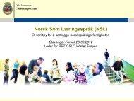 Norsk Som Læringsspråk (NSL) - Lesesenteret