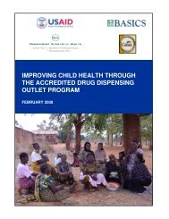improving child health through the accredited drug dispensing outlet ...