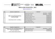 BOLSA DE EXTENSÃO - 2013