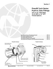 Pneufit Inch Series Push-In Tube Fittings