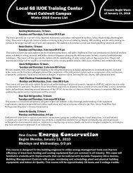 Winter 2010 Course List - IUOE Local 68