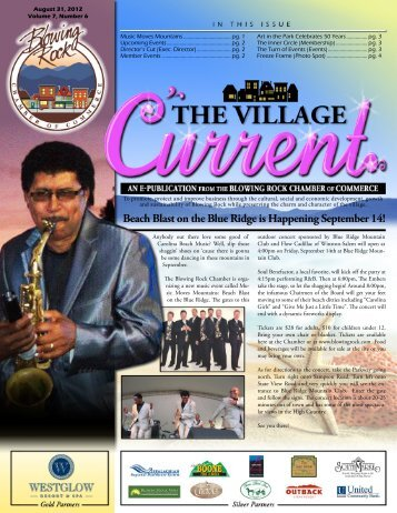 August 31 , 2012 - Blowing Rock Chamber of Commerce