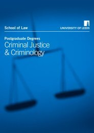 Criminal Justice & Criminology - School of Law - University of Leeds