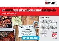 UITNODIGING! UT WürThWer efkes TIjD vUr ... - Würth Nederland