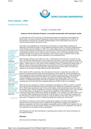 Page 1 of 2 WCO 18/09/2009 http://www.wcoomd.org/print/?id ...