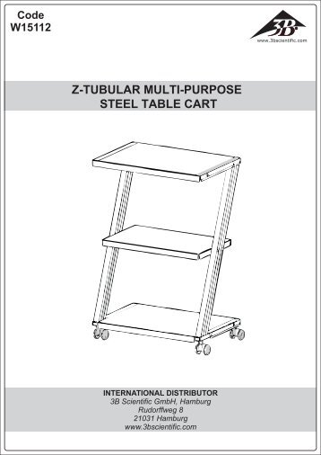Z-TUBULAR MULTI-PURPOSE STEEL TABLE CART