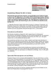 Ausstellung «Wasser für alle!» in Aarau - Stadtmuseum Schlössli ...