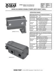 VIKING SG SERIES DOUBLE PUMPS (WITH SHAFT SEAL)