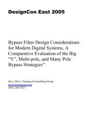 Bypass Filter Design Considerations for Modern Digital Systems, A ...