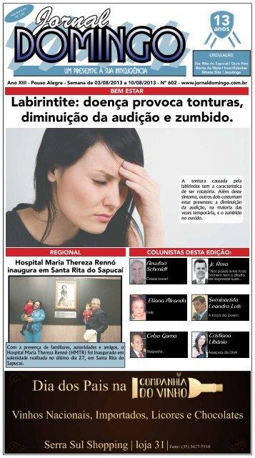Labirintite: doença provoca tonturas, diminuição ... - Jornal Domingo