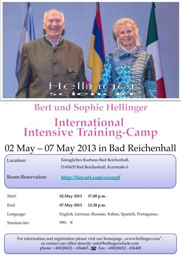 02 May – 07 May 2013 in Bad Reichenhall - Hellinger.com