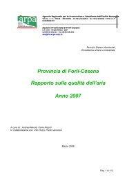 Report 2007 (pdf 2.347 KB) - Provincia di Forlì-Cesena