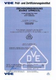 Vde-Zertifikat: E116 - F-tronic