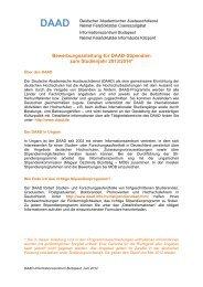 Bewerbungsanleitung für DAAD-Stipendien zum Studienjahr 2013 ...