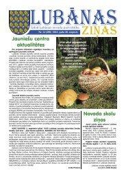 2013. gada 14. numurs - Lubānas novads