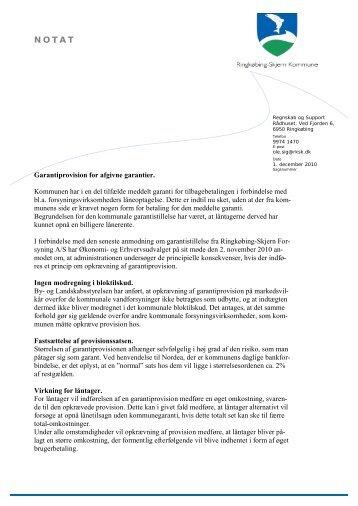 Notat af 0112.10 om garantiprovision.pdf - Ringkøbing-Skjern ...