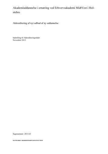 Akademiuddannelse i ernæring - Danmarks Akkrediteringsinstitution