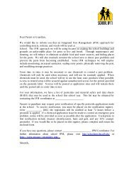Dear Parent or Guardian, We would like to inform you ... - School IPM