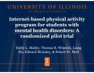 Internet-based physical activity program for students with mental ...