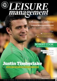 Leisure Management Issue 1 2011 - Leisure Opportunities