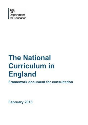 National Curriculum consultation - British Educational Research ...