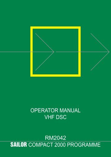 operator manual vhf dsc rm2042 sailor compact 2000 ... - Polaris-as.dk