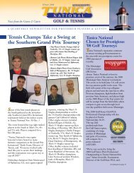 Tennis Champs Take a Swing at the Southern Grand ... - Cybergolf