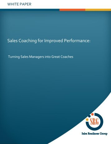 Sales Coaching for Improved Performance: - TrainingIndustry.com