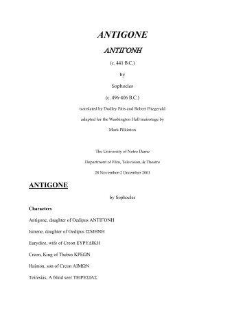 English storyboard of Antigone worksheet Storyboard