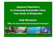 Japanese Experience in Promoting Sustainable Cities ... - UNCRD