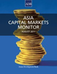 Asia Capital Markets Monitor 2011 - AsianBondsOnline
